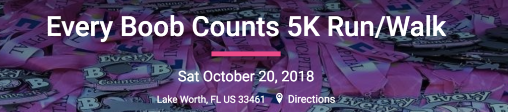 Every Boob Counts 5K Run/Walk Banner